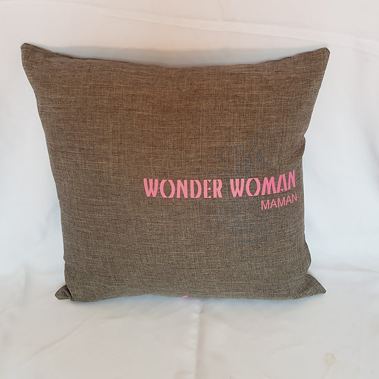 Coussin Maman Wonder Woman