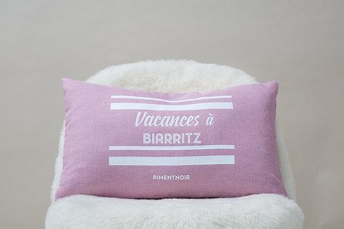 Coussin Vacances à Biarritz