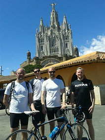 Climbing Tibidabo with Montefusco Cycling