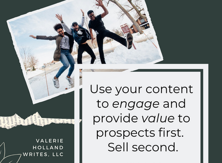 Serve your prospects first. Sell second