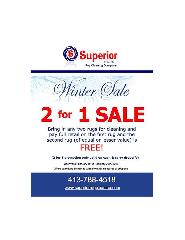 Superior Rug Winter Sale  2 for 1 Rug Cl
