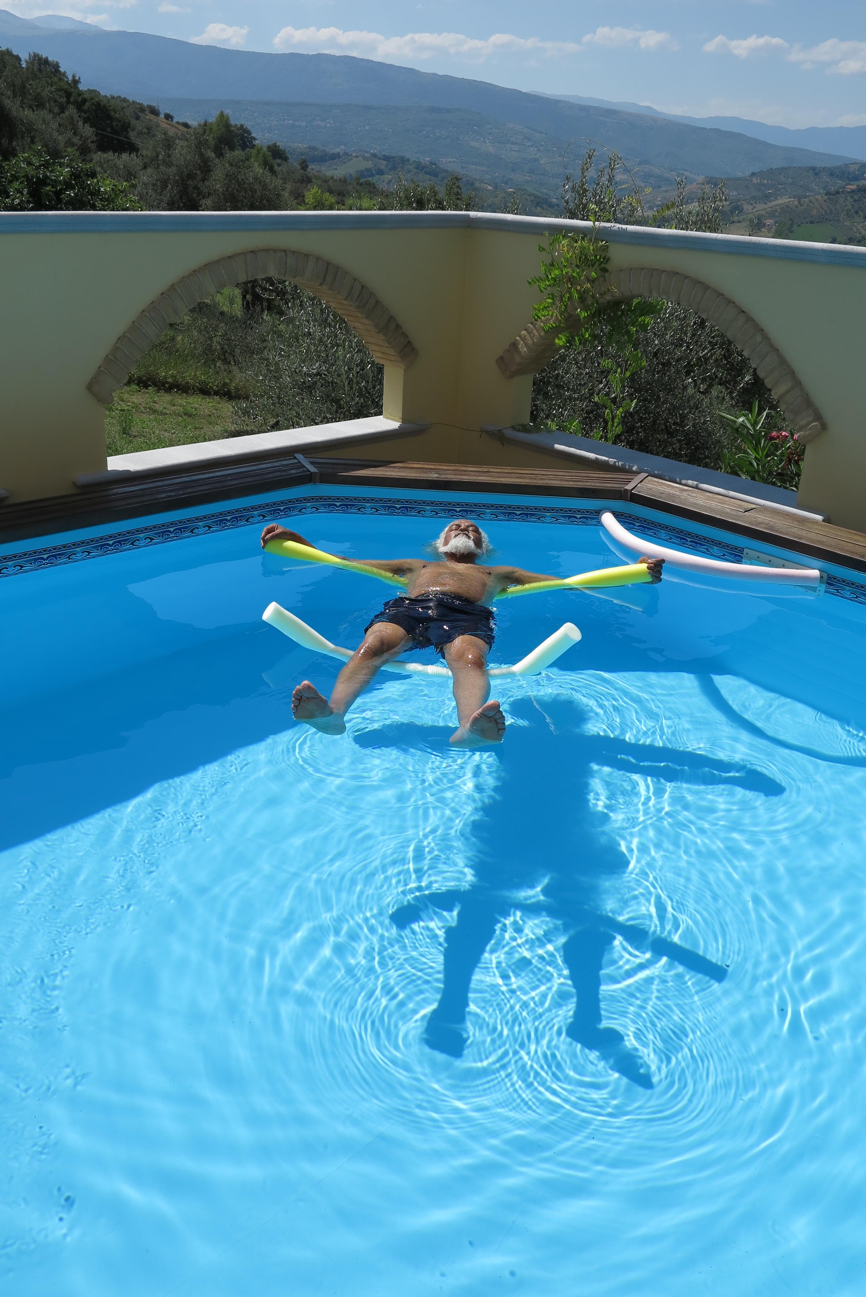 Guest Enjoying a Dip