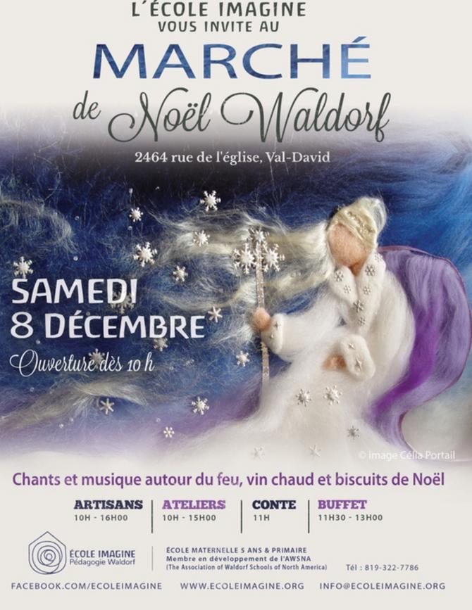 8 DÉCEMBRE 2018 MARCHÉ DE NOEL WALDORF, école Imagine de Val-David, Qc
