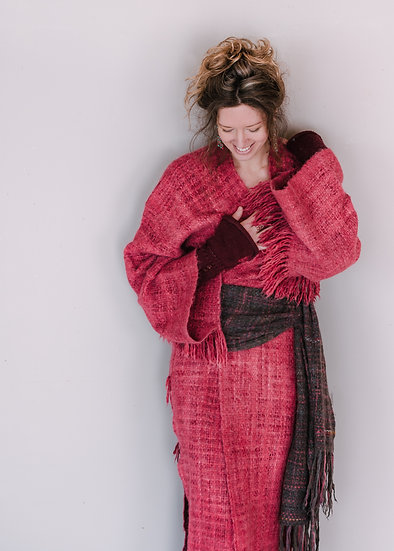 Robe Longue Rouge Style Kimono