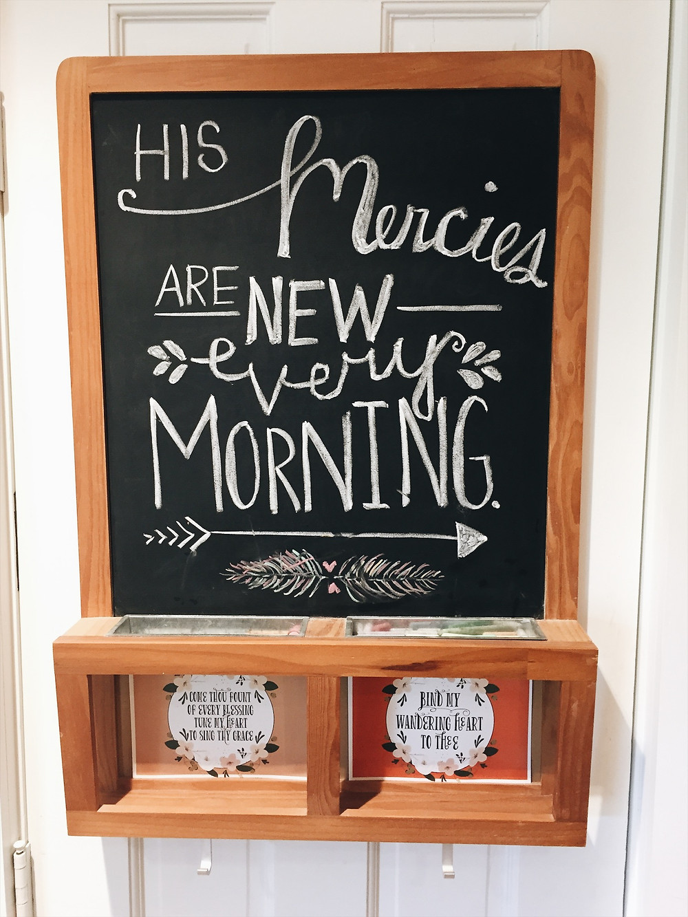 It's fun to change up verses on my kitchen blackboard. Love to see them all the time!