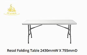 Trestle Table 2430 W x 755 D