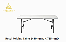 Trestle Table 2430 W x 755 D