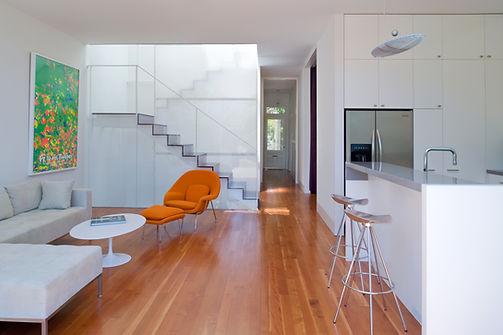 Noe Valley Residence: View through to front door