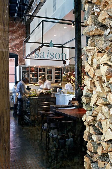 Saison Restaurant, entry view to kitchen