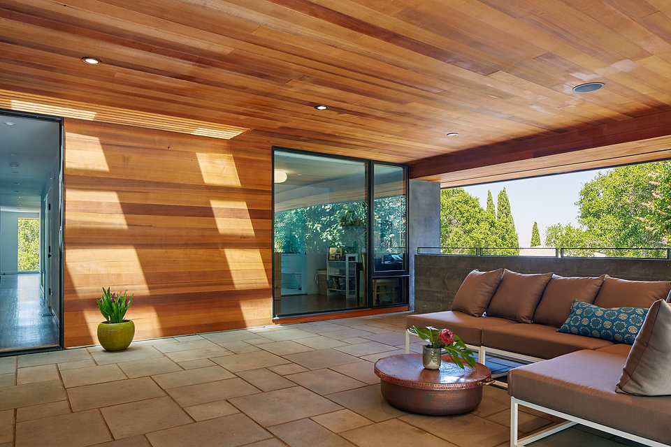 Belmont Residence, outdoor room