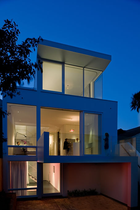Noe Valley Residence: Rear View at Night