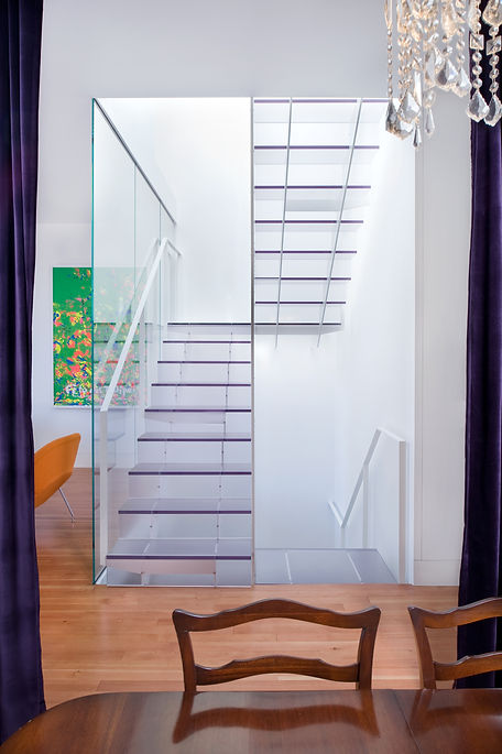 Noe Valley Residence: Translucent Staircase