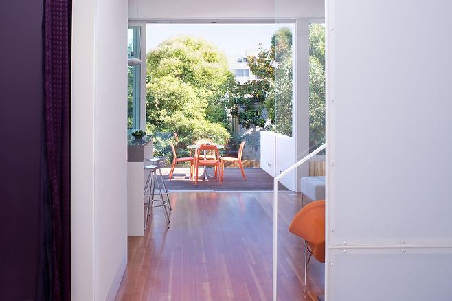 Noe Valley Residence: See though to deck