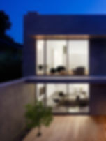 Los Altos Residenc: Back of House, Night View