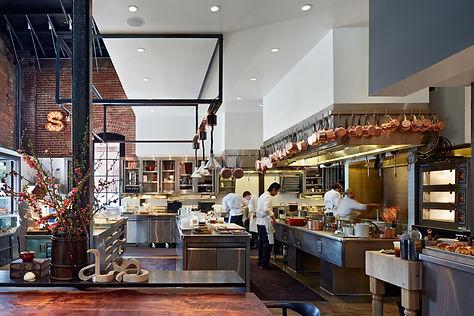Saison Restaurant, open kitchen