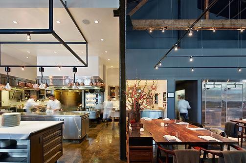 Saison Restaurant, kitchen and dining