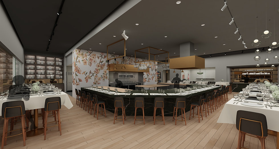 The Kitchen, interior rendering