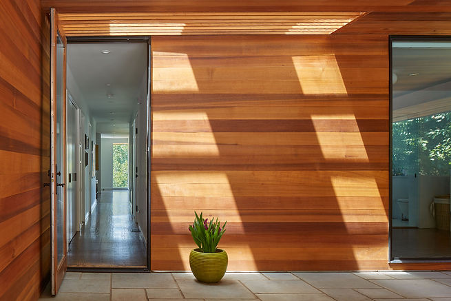 Belmont Residence, door to outdoor room