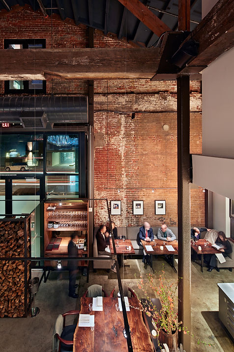 Saison Restaurant, interior from above
