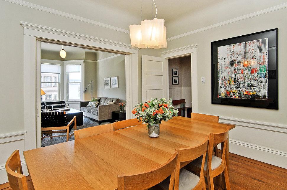 Inner Sunset Residence: Dining Room & Living Area