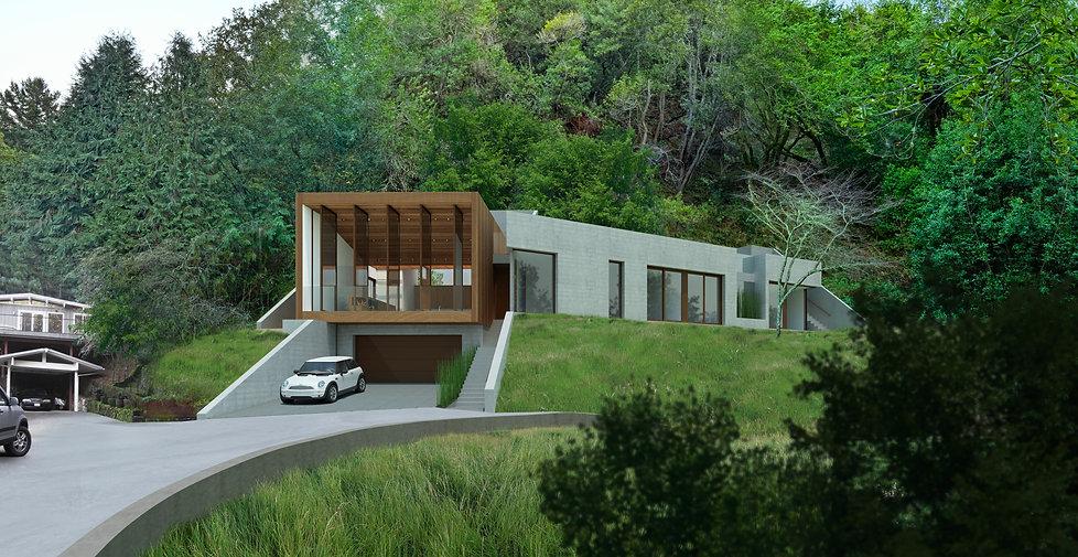Tamalpais Valley Residence, Exterior View