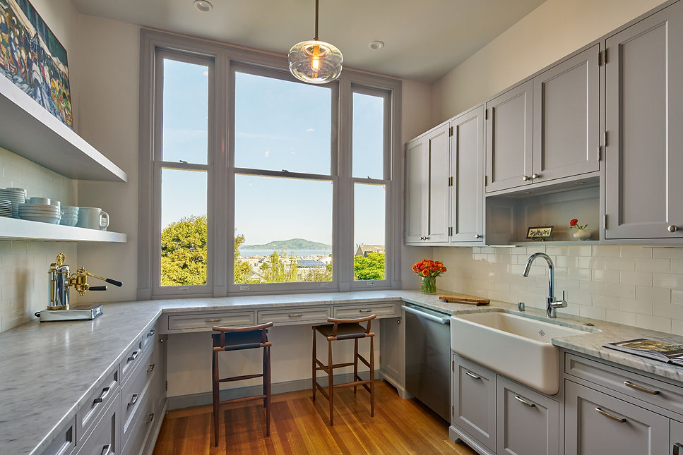 Pacific Heights Residence, Kitchen with view