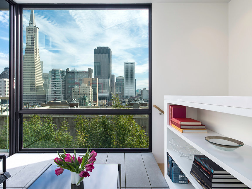 Telegraph Hill Residence, view to downtown San Francisco