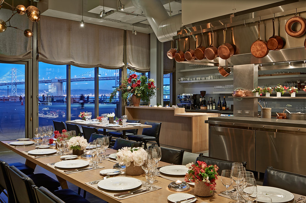 Boulette's Larder, dining with SF Bay view