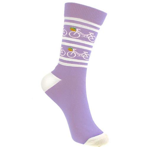 Lilac Bike Socks 3-7