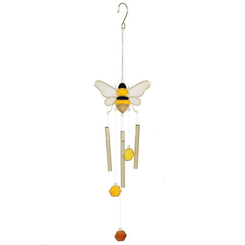 Bee and Honey Comb Wind Chime