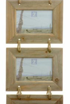 Picture Frame with Rope/Wood 4x6