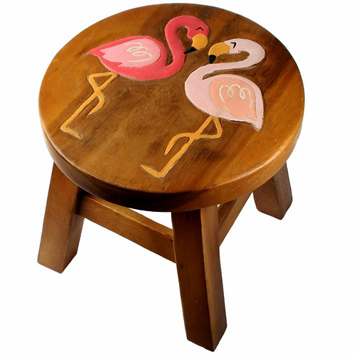 Two Flamingos Stool