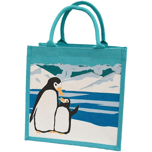 Penguin Jute Bag