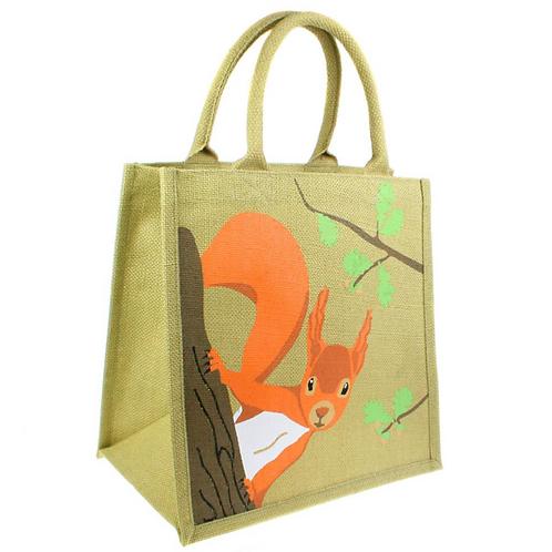 Squirrel Jute Bag