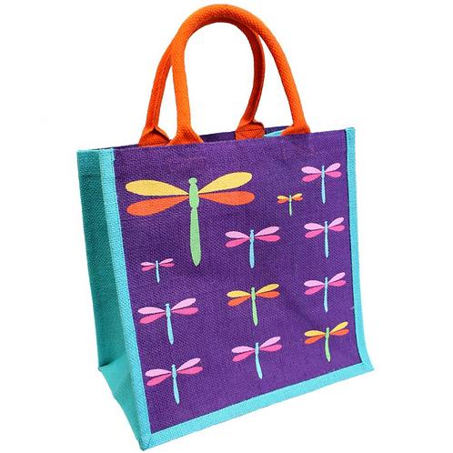 Multi Dragonflies Jute bag
