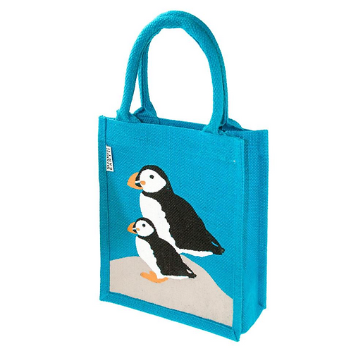 Puffin small Jute Bag