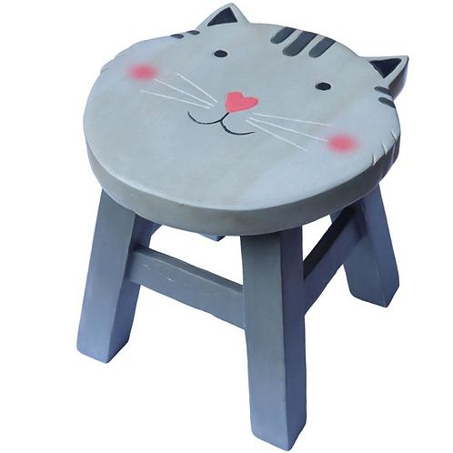 Grey Cat Stool