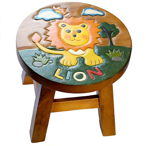Lion stool with Text