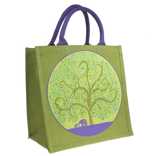 Tree of Life Jute Bag