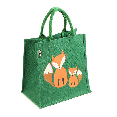 Fox and Cub Jute bag