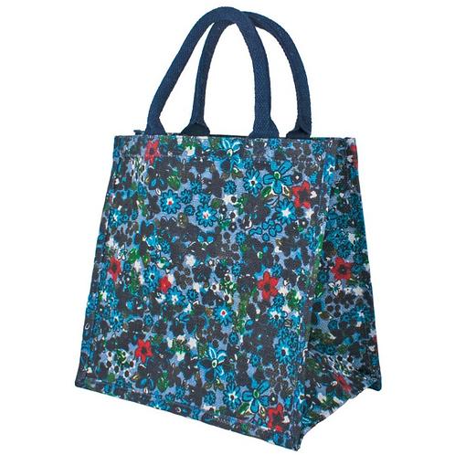 Floral blue Jute Bag