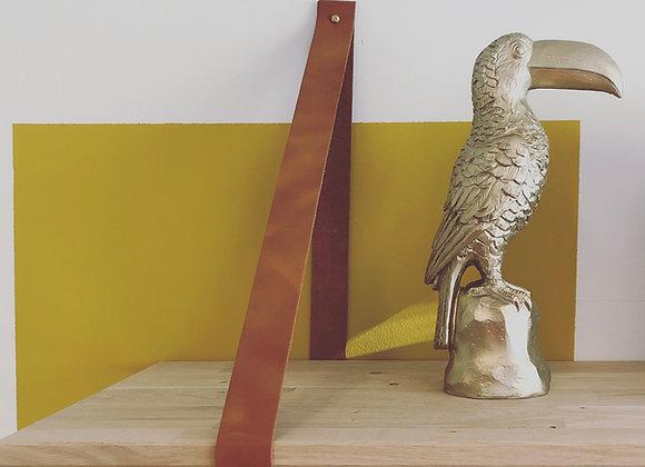 Leren plankdrager XL (set) - 13 kleuren