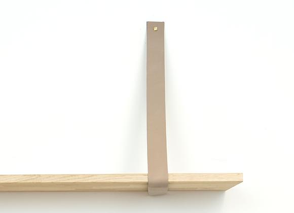 Leren plankendrager taupe (set)