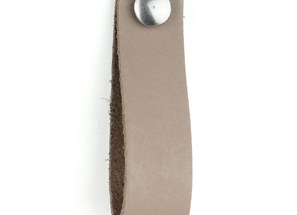 Leren handgreep taupe [smal] 15 of 18 cm
