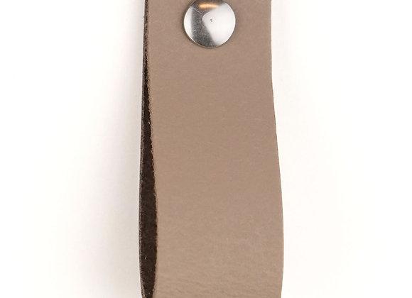 Leren handgreep taupe [breed] 15 of 18 cm