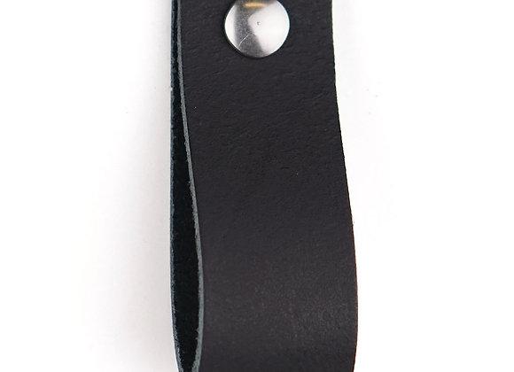 Leren handgreep zwart [breed] 15 of 18 cm