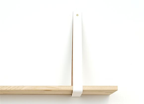 Leren plankendrager wit (set)
