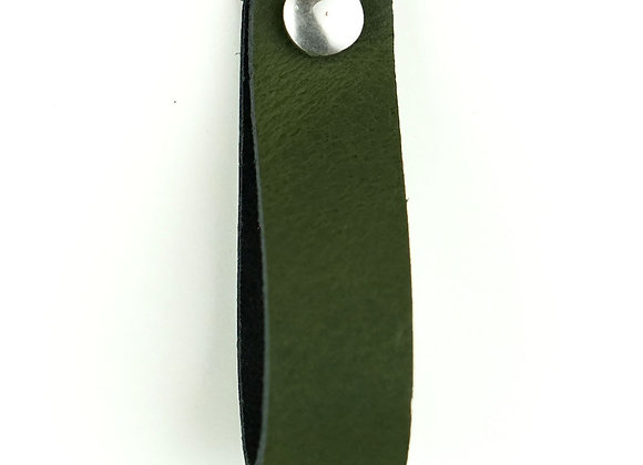 Leren handgreep groen [smal] 15 of 18 cm