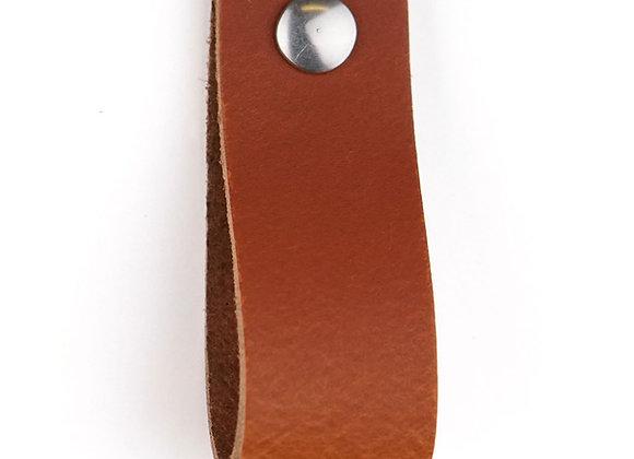 Leren handgreep cognac [breed] 15 of 18 cm