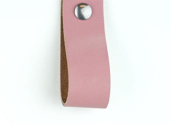 Leren handgreep roze [breed] 15 of 18 cm